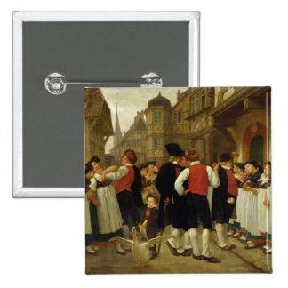 The Servants' Fair at Bouxwiller Pinback Button