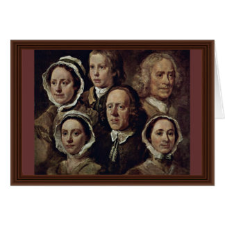 The Servants Of The Painter By Hogarth William Card