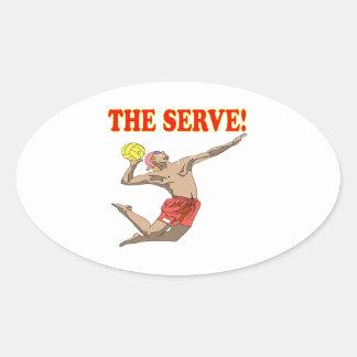 The Serve 3 Oval Sticker
