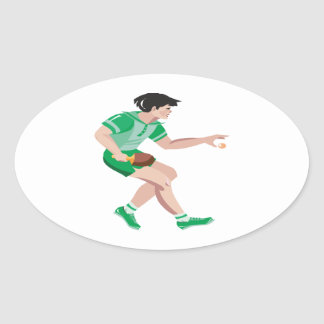 The Serve Oval Stickers