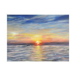 The Setting Sun Canvas Print