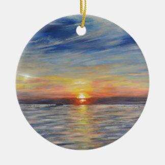 The Setting Sun Ceramic Ornament