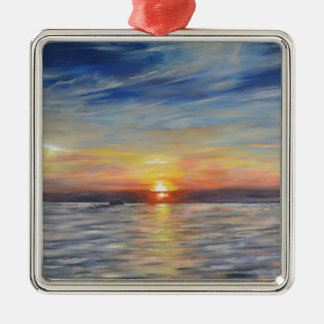 The Setting Sun Metal Ornament