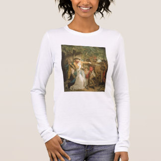 The Settling Family Attacked by Savages, engraved Long Sleeve T-Shirt