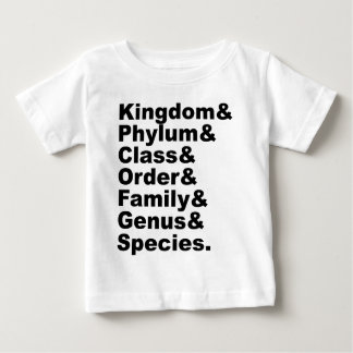 The Seven Categories of Biological Taxonomy Baby T-Shirt