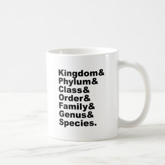 The Seven Categories of Biological Taxonomy Coffee Mug