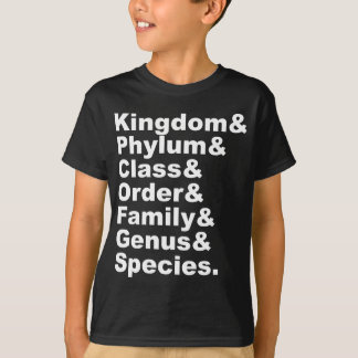 The Seven Categories of Biological Taxonomy T-Shirt