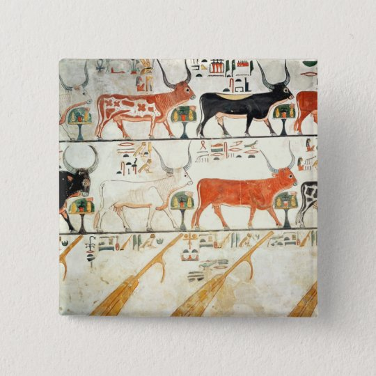 The seven celestial cows and the sacred bull button