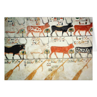 The seven celestial cows and the sacred bull greeting card