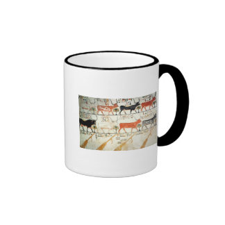 The seven celestial cows and the sacred bull ringer coffee mug