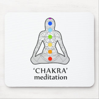 The seven chakras with their respective colors mouse pad