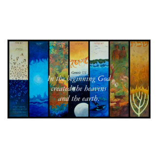 THE SEVEN DAYS OF CREATION In the beginning Go Poster
