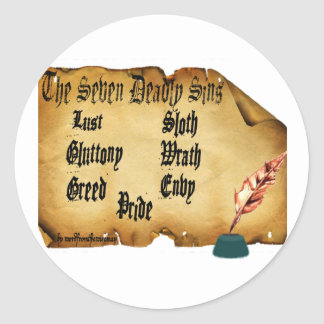 The Seven Deadly Sins Classic Round Sticker
