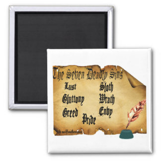 The Seven Deadly Sins Fridge Magnets