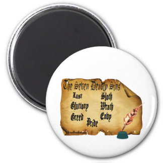 The Seven Deadly Sins Refrigerator Magnets