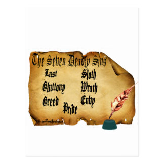 The Seven Deadly Sins Postcard