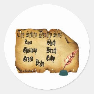The Seven Deadly Sins Round Sticker