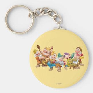 The Seven Dwarfs 3 Basic Round Button Keychain