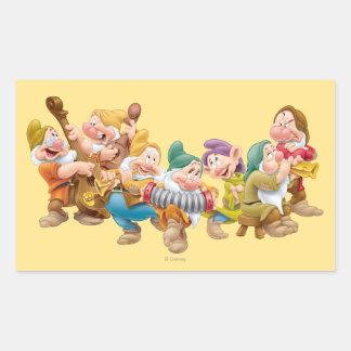 The Seven Dwarfs 3 Rectangular Sticker