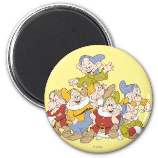 The Seven Dwarfs 4 2 Inch Round Magnet