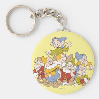 The Seven Dwarfs 4 Basic Round Button Keychain