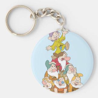 The Seven Dwarfs 5 Basic Round Button Keychain