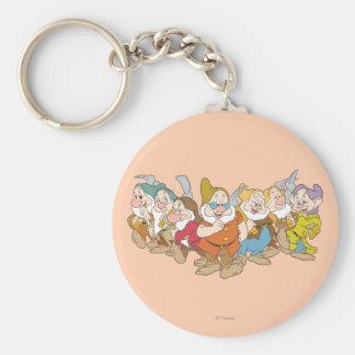 The Seven Dwarfs 6 Basic Round Button Keychain
