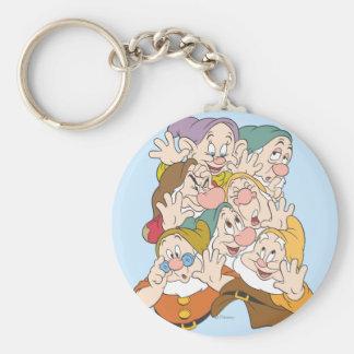 The Seven Dwarfs Basic Round Button Keychain