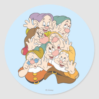 The Seven Dwarfs Classic Round Sticker