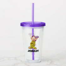 The Seven Dwarfs - Dopey | Add Your Name Acrylic Tumbler
