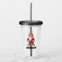 The Seven Dwarfs - Grumpy | Add Your Name Acrylic Tumbler