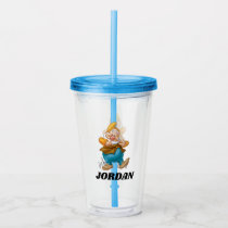 The Seven Dwarfs - Happy | Add Your Name Acrylic Tumbler