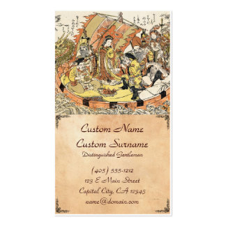 The Seven Gods Good Fortune in the Treasure Boat Business Card