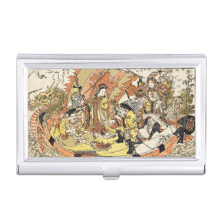 The Seven Gods Good Fortune in the Treasure Boat Case For Business Cards