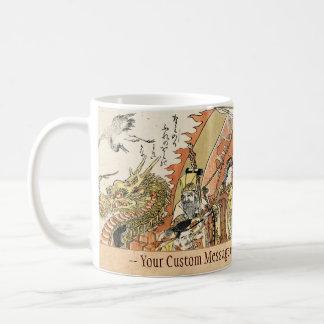 The Seven Gods Good Fortune in the Treasure Boat Coffee Mug