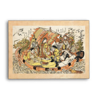 The Seven Gods Good Fortune in the Treasure Boat Envelopes