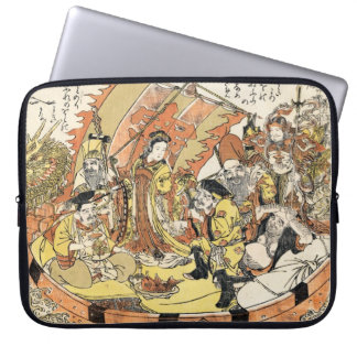 The Seven Gods Good Fortune in the Treasure Boat Laptop Sleeves