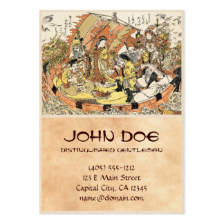 The Seven Gods Good Fortune in the Treasure Boat Large Business Card