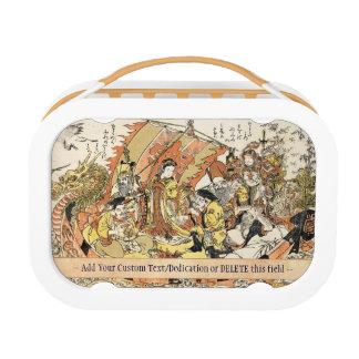 The Seven Gods Good Fortune in the Treasure Boat Lunch Box