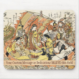 The Seven Gods Good Fortune in the Treasure Boat Mouse Pad