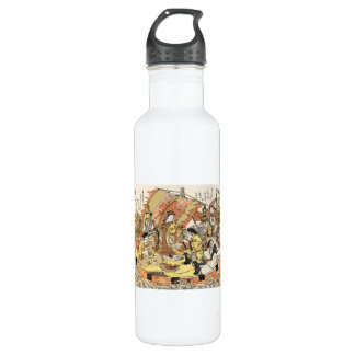 The Seven Gods Good Fortune in the Treasure Boat Stainless Steel Water Bottle