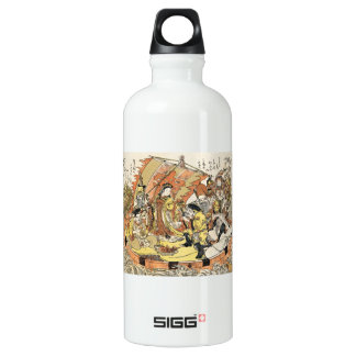 The Seven Gods Good Fortune in the Treasure Boat Water Bottle