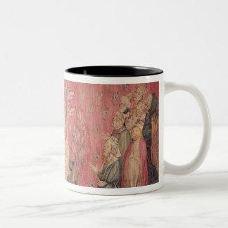 The seven-headed beast from the sea Two-Tone coffee mug