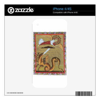 The Seven-headed Serpent of the Revelation Decals For iPhone 4S