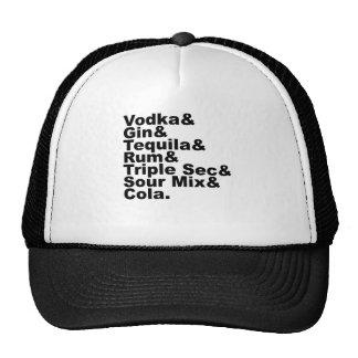 The Seven Ingredients In A Long Island Iced Tea Trucker Hat