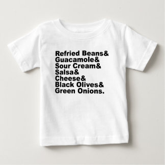The Seven Ingredients In A Seven Layer Dip Baby T-Shirt