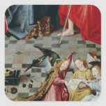 The Seven Joys of the Virgin Altarpiece Square Sticker