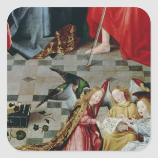 The Seven Joys of the Virgin Altarpiece Square Sticker
