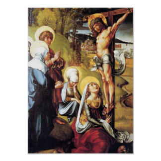 The seven Mary's pain - Christ on the Cross -Durer Poster