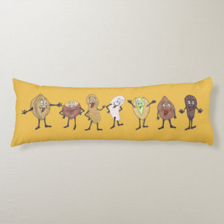 'The Seven Nuts' Yellow Body Pillow